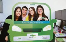 Funcionarios de Promigas comparten sus carros porque desean una movilidad sostenible.