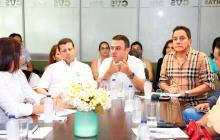 la reunión entre Besaile y representantes de las EPS se cumplió hasta después del mediodía en la sala de juntas de la Corporación Autónoma Regional de Córdoba, CVS.