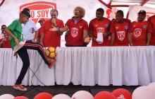 El gobernador Verano, 'el Pibe' y otros exjugadores.
