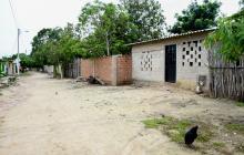 Casa donde sucedieron los hechos en La Retirada, corregimiento de Ponedera