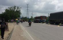 Habitantes de Bayunca bloquean vías luego de cancelar permiso para fiestas