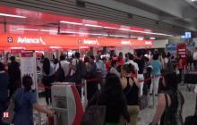 Pasajeros en el aeropuerto Ernesto Cortissoz de Barranquilla