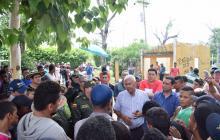 Durante los desalojos que se llevaron a cabo en la tarde del viernes pasado en uno de los tres predios invadidos.