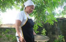 Ana Isabel Cantillo Chaparro se dedica a cocinar.