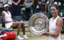 Muguruza fulmina a Venus en Wimbledon