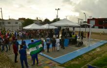 Habitantes de Las Gaviotas estrenan parque