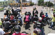 Nueva protesta de mototaxistas de Cartagena por decreto que prohíbe el parrillero hombre