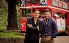 El cantante vallenato Peter Manjarrés y  su compañero de fórmula Juan Mario 'Juancho' De la Espriella.