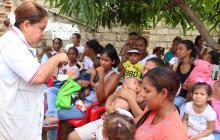 Gobernación brinda atención integral a 300 madres de Campo de la Cruz