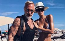 En video   Gianluca Vacchi le roba un beso a Ariadna Gutiérrez