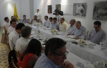 El Presidente Juan Manuel Santos durante el encuentro con empresarios y líderes empresariales del Atlántico.