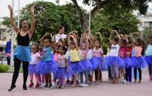 'Baila Ballet y Toma agua' se desplazó al parque del barrio Los Andes