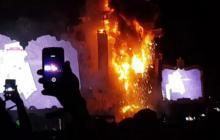 En video | Cancelan el Tomorrowland de Barcelona por un incendio en el escenario