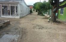 Lugar donde la víctima recibió los tres impactos de bala en el barrio La Chinita