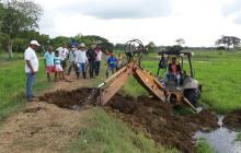 La ruptura del camellón por parte de la Alcaldía de San Pelayo ocurrió en zona rural de Sabananueva.