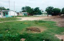 Lugar donde fue baleado un menor de 17 años en Malambo.