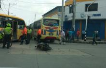 Carrera 38 con calle 40, lugar del accidente.