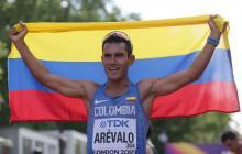 Éider Arévalo se corona campeón del mundo en marcha de 20 kilómetros