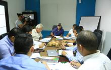 El alcalde Alejandro Char durante la reunión de junta del Área Metropolitana de Barranquilla reunida este miércoles.