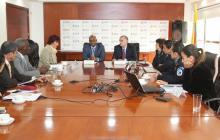 Reunión con minambiente, Luis G. Murillo y el gobernador del Atlántico, Eduardo Verano.