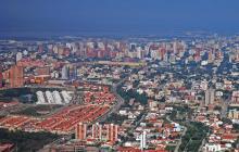Vista panorámica de edificios residenciales ubicados en el norte de Barranquilla.