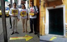Señalizan las edificaciones en deterioro en el Centro Histórico de Cartagena
