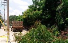 Reportan daños y atraso en obras de canalización de la 58