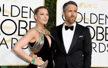 Blake Lively y Ryan Reynolds en los Golden Globes 2017