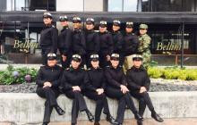 Las suboficiales reunidas en la Escuela Naval de Suboficiales.