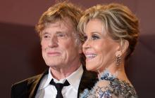 Robert Redford y  Jane Fonda en el Festival de Venecia