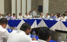 Sesión del Ocad Caribe realizada en Riohacha y liderada por el presidente Santos.