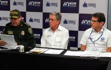 El ministro Germán Cardona en la rueda de prensa ofrecida desde Cartagena.