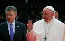"""""""El Papa vino a darnos un empujón hacia la reconciliación"""": Santos"""