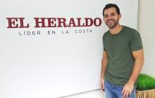 Alberto Del Castillo, el Gatales, en su vista a EL HERALDO.