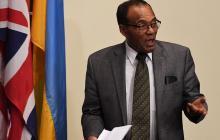 El embajador de Etiopía en la ONU, antes de la reunión del Consejo de Seguridad sobre Corea del Norte.