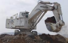 Maquinaria en la mina de Cerrejón en La Guajira.