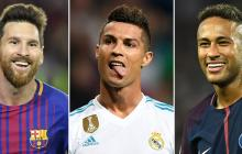 Lionel Messi, Cristiano Ronaldo y Neymar Jr.