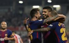 El Barcelona sigue firme y gana 3-0 el derbi en Girona