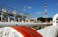 Equipo de un gasoducto de la empresa Promigas en la Costa Caribe.