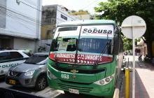 Bus de la ruta Granabastos-Calle 72, vinculado a la empresa Sobusa, que fue atracado.