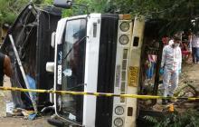 Camión se queda sin frenos y mata a dos menores de edad en Sucre