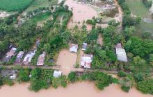 El boquete en zona rural de Lorica pasó de medir de 20 a  25 metros, mientras se sigue debilitando la ribera.