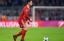 James Rodríguez, durante un compromiso con el Bayern München en la Uefa Champions League.