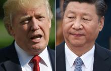 Donald Trump y su homólogo Xi Jinping.