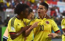 Jugadores de la Selección Colombia, clasificada al Mundial.