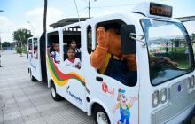 Bus articulado de Transmetro, nueva atracción del parque Muvdi