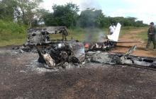 FAC destruye avioneta que iba a transportar 400 kilos de coca