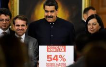 El presidente Nicolás Maduro, en un acto en el Palacio de Miraflores.El presidente Nicolás Maduro, en un acto en el Palacio de Miraflores.