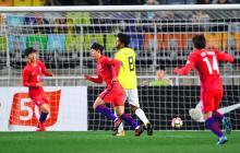 Acción del primer gol de Son Heung-Min.