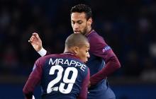 El francés Mbappe y el brasileño Neymar en acción con el Paris Saint Germain.